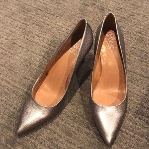 Metallic Vince Camuto Pointed Toe Heel
